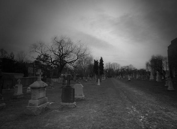 dark, cold, cemetery