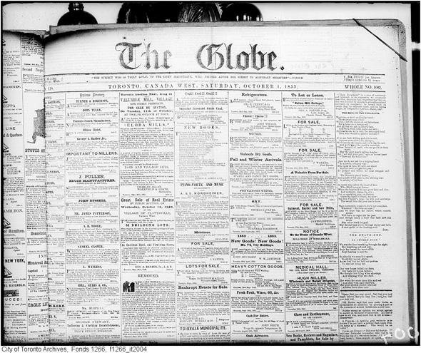 The Globe 1853