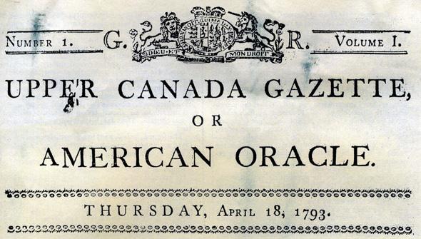 Upper Canada Gazzette