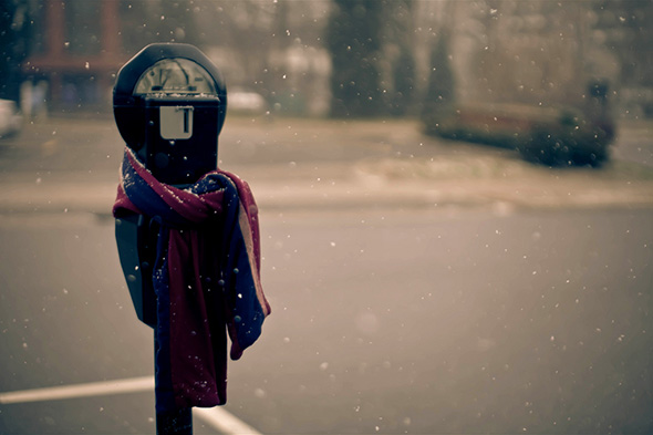parking meter scarf