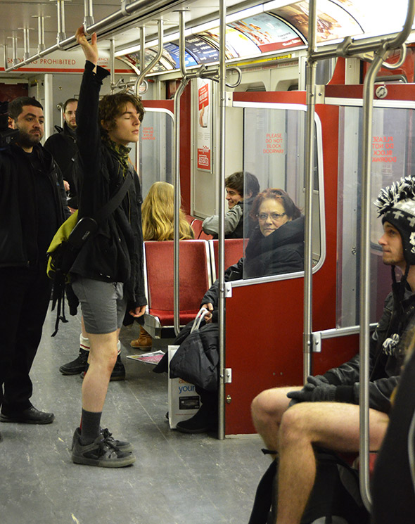 No Pants Subway Toronto
