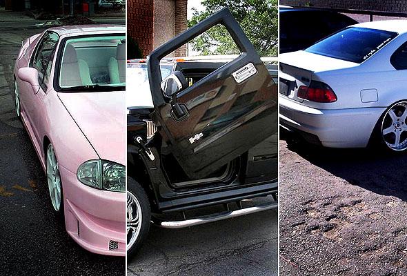 TeamSLS custom car triptych
