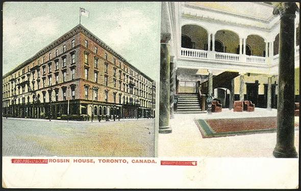 Rossin House Hotel Postcard Interior