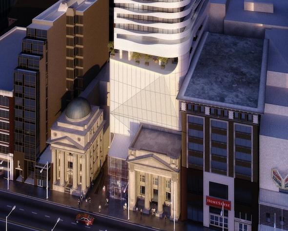 Massey Tower Yonge Street Aerial