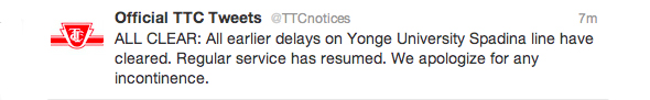 TTC Update Incontinence Status