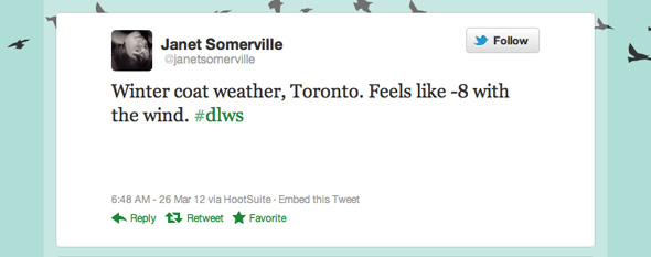 DLWS Weather Toronto