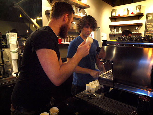 baristas at work