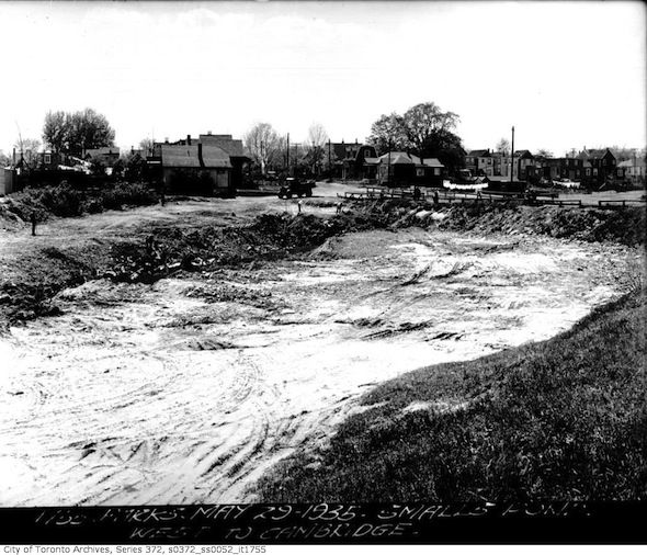 Smalls Pond Drained 1935