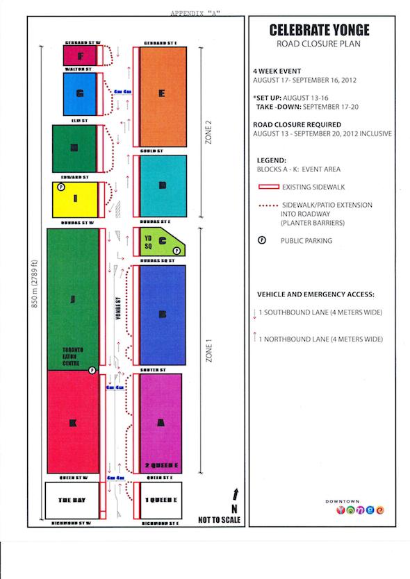 Celebrate Yonge Closure Map