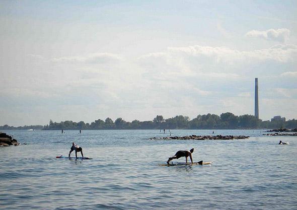 Waterboard yoga