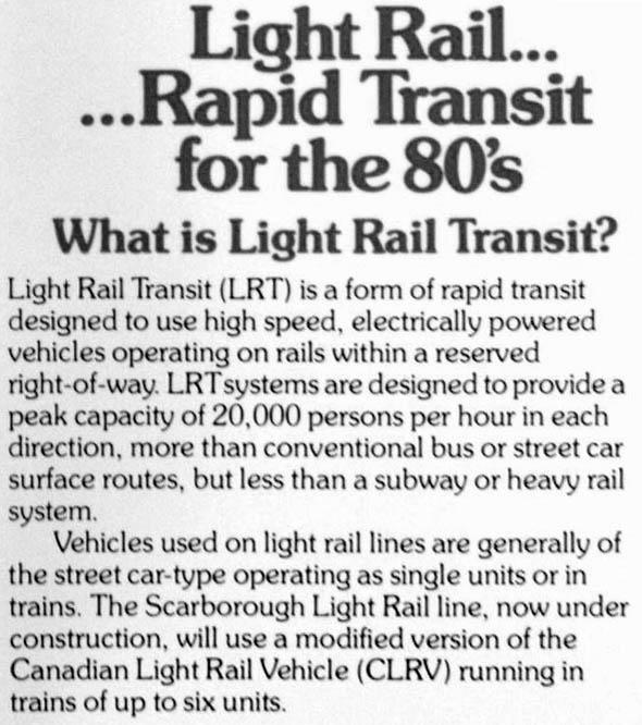 ttc rapid transit ad 1980s
