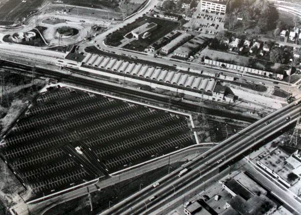 kipling station construction aerial 1980