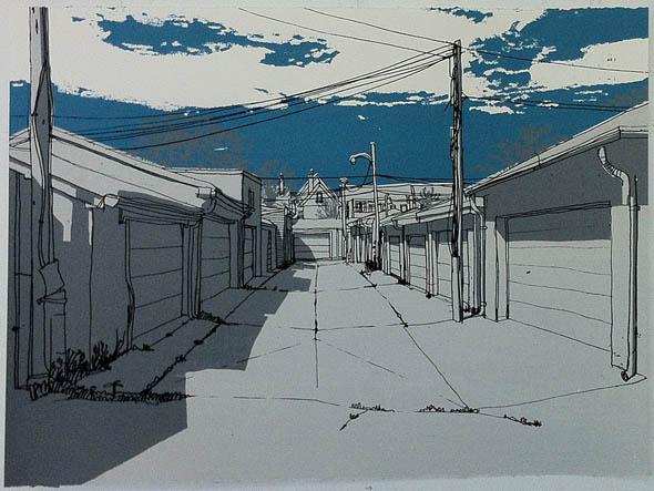 toronto etsy laneway painting