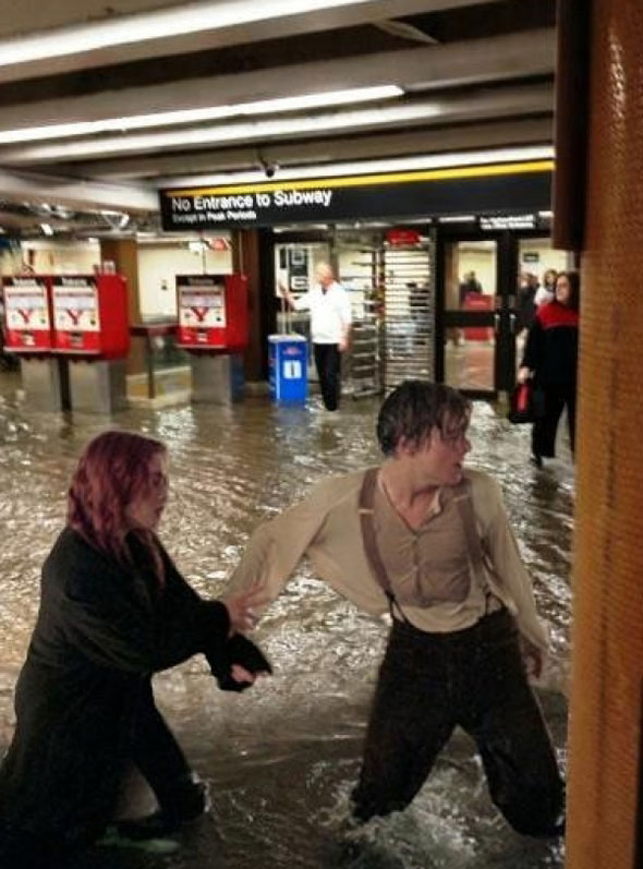 Union Station Flood Meme Titanic