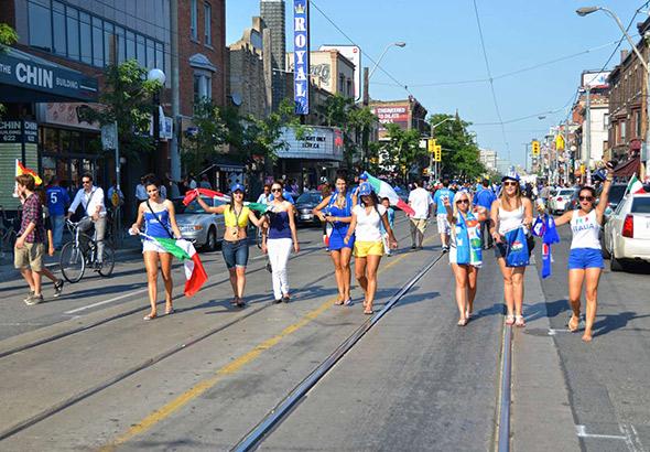 Little Italy Toronto Euro Soccer Celebration