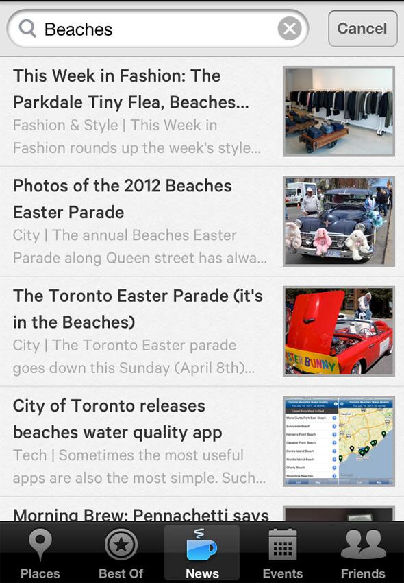 Iphone app Toronto