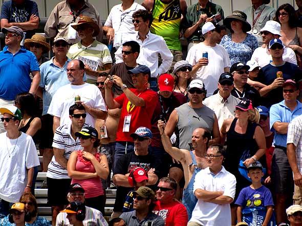 Honda Indy grandstand crowd