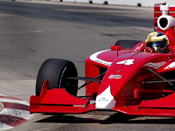 An Indy Lights car