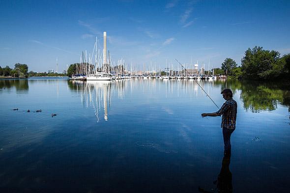 fishing at Ashbridge
