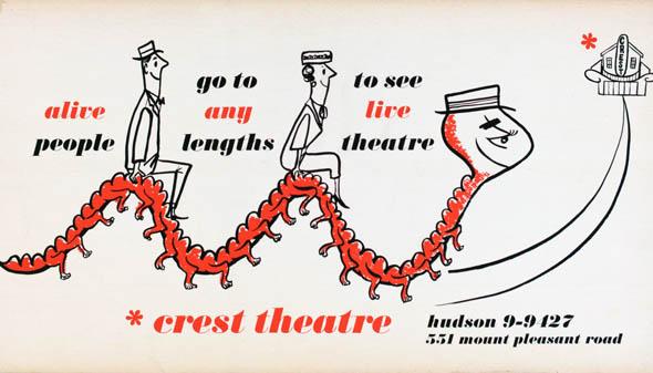 vintage ttc advertisements theatre