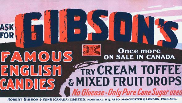 vintage ttc advertisements gibsons