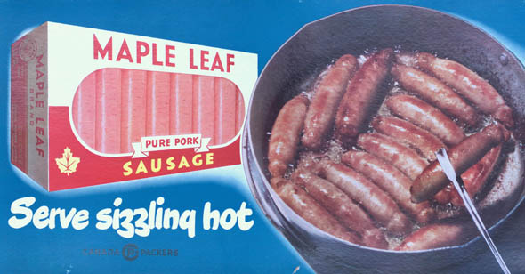 vintage ttc advertisements maple leaf sausages