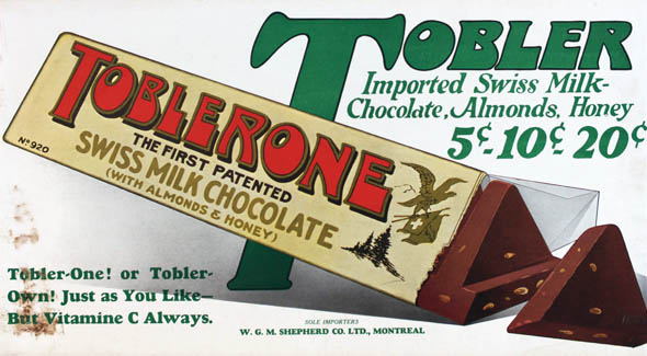 vintage ttc advertisements toblerone
