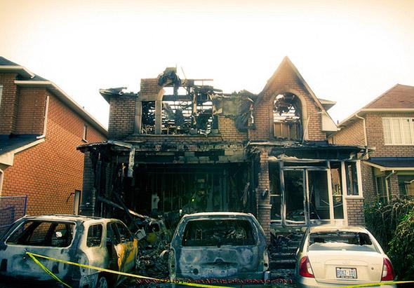 fire in markham