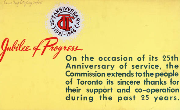 vintage ttc adverts jubilee of progress