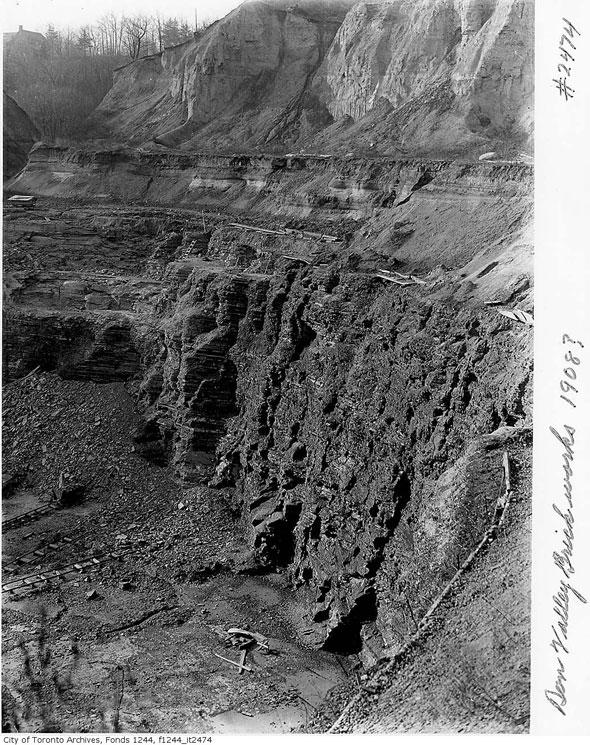 toronto don valley brick works evergreen pit sediment