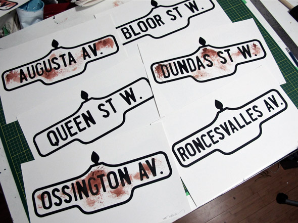 Toronto Street Sign Posters