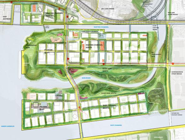 toronto port lands acceleration initiative map