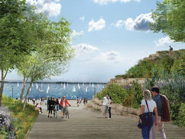toronto port lands acceleration initiative promontory park