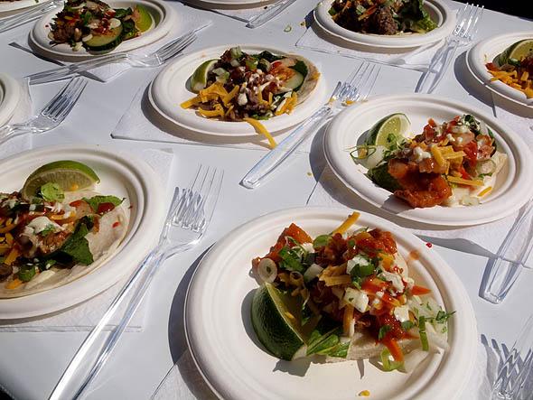 Far East Taco's table