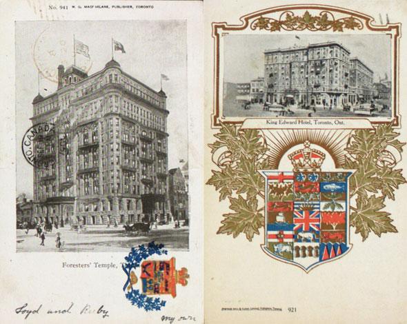 toronto vintage postcard