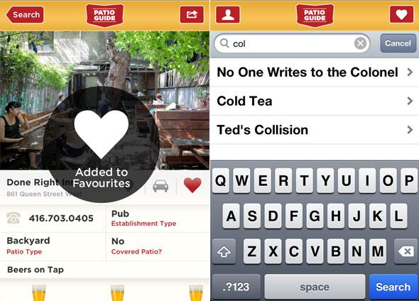 Patio Guide iPhone app