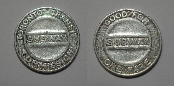 old toronto TTC tokens