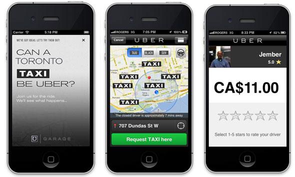 toronto uber app