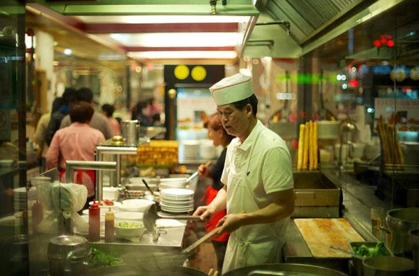 Chinatown restaurant window