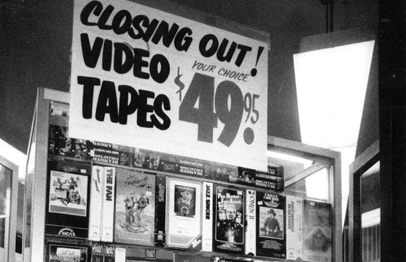 Video Store Closing Sale