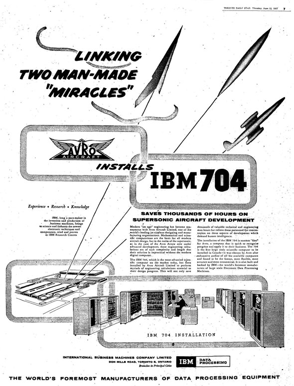 avro arrow IBM