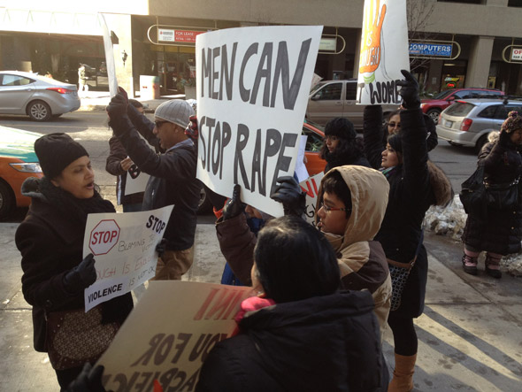 Rape Protest Toronto Indian Embassy
