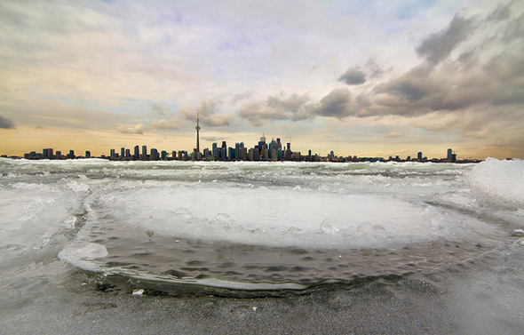 Toronto winter skyline
