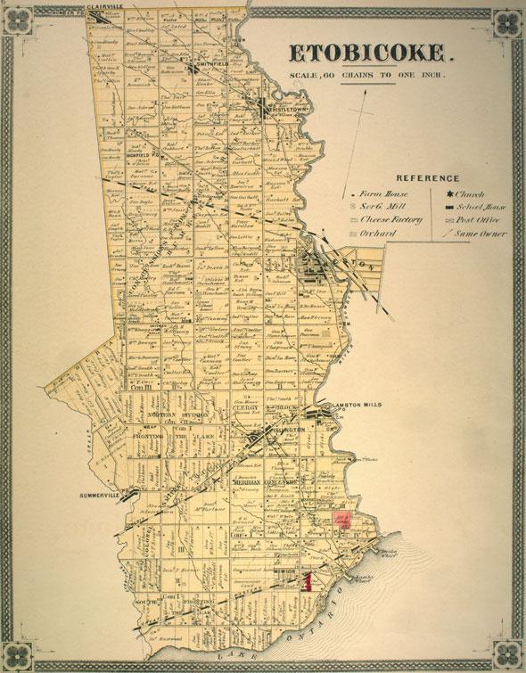 etobicoke map