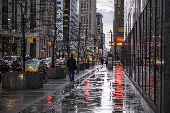 Rain Toronto King Street
