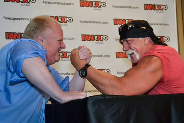 Rob Ford Wrestling Hulk Hogan