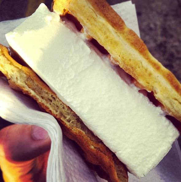 cne waffle ice cream sandwich