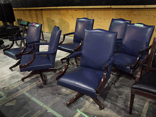 blue leather boardroom chairs