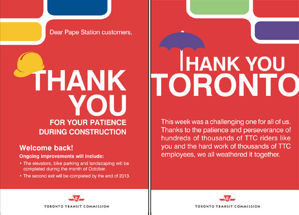 toronto ttc construction