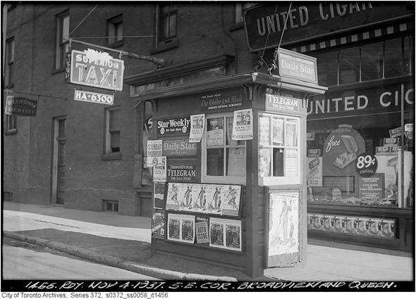 What Newsstands Used To Look Like In Toronto